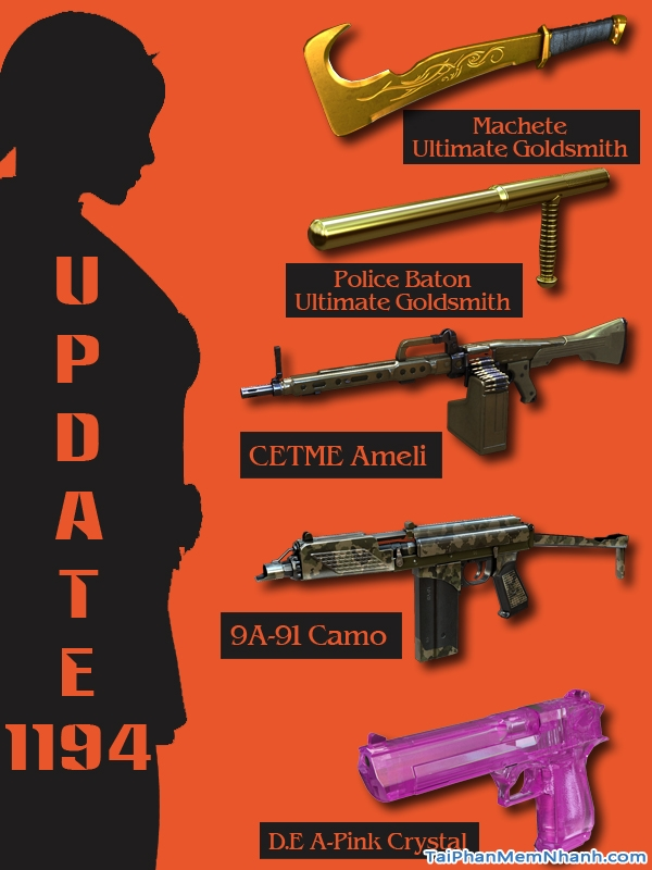 cập nhật báu vật mới trong game đột kích 1194